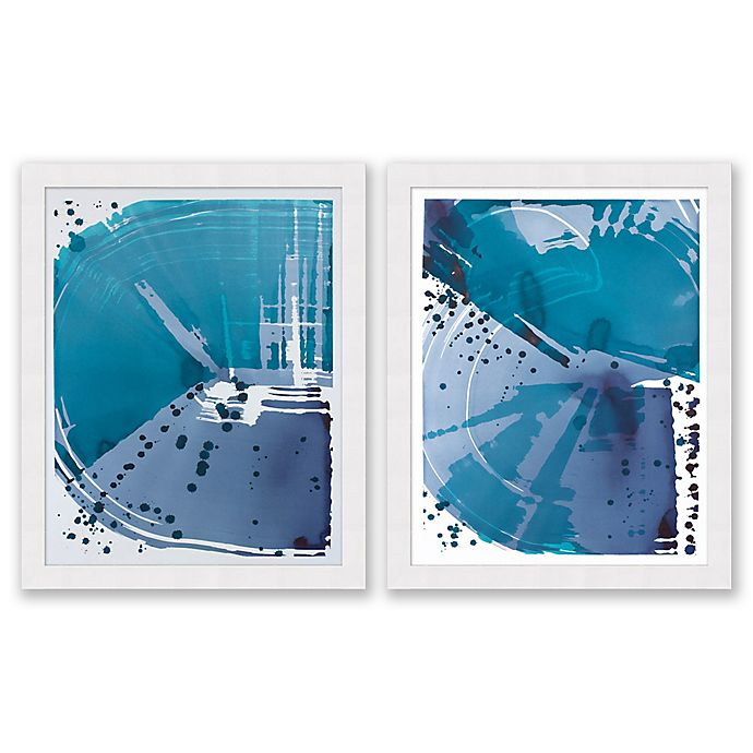 Alternate image 1 for Sea Blue 25.5-Inch x 31.5-Inch Framed Diptych Wall Art (Set of 2)