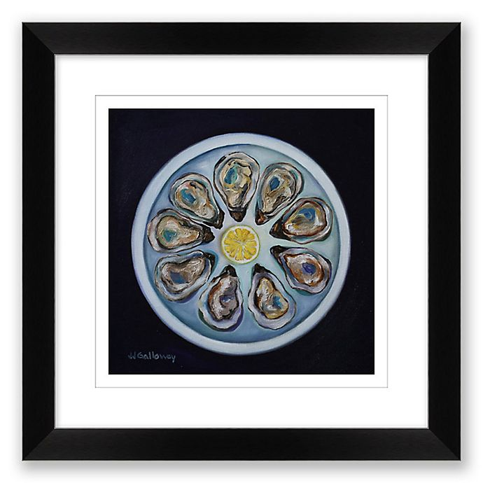 Alternate image 1 for Oyster 16-Inch Square Paper Framed Print Wall Art