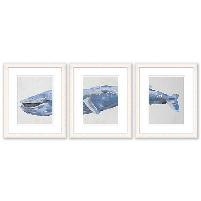 Alternate image 1 for Whale 3-Piece 15-Inch x 18-Inch Paper Framed Print Wall Art