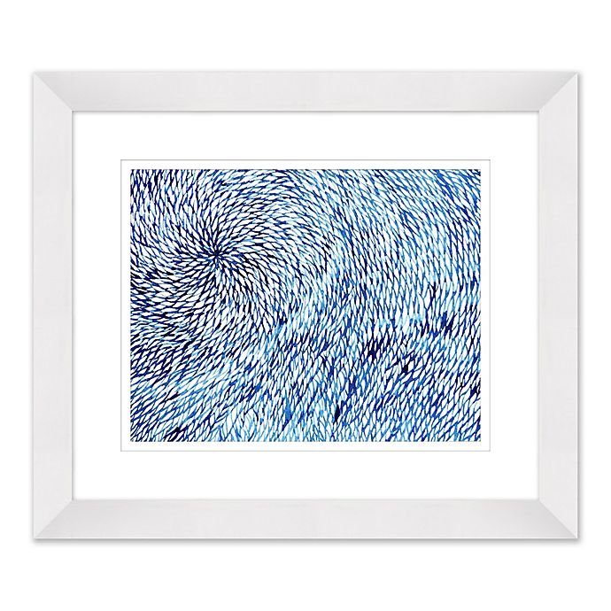 Alternate image 1 for Water Design 27.5-Inch x 23.5-Inch Paper Framed Print Wall Art
