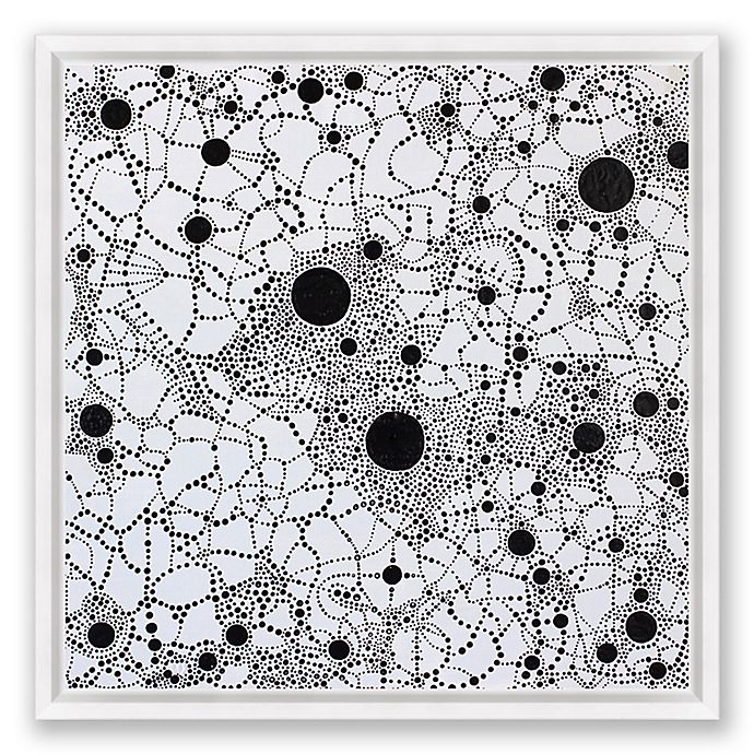 Alternate image 1 for Enigma Abstract 40-Inch Square Framed Canvas Wall Art in Black/White
