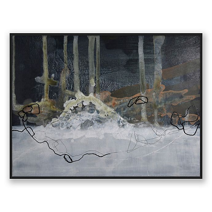 Alternate image 1 for Moody 40-Inch x 30-Inch Abstract Framed Canvas Wall Art