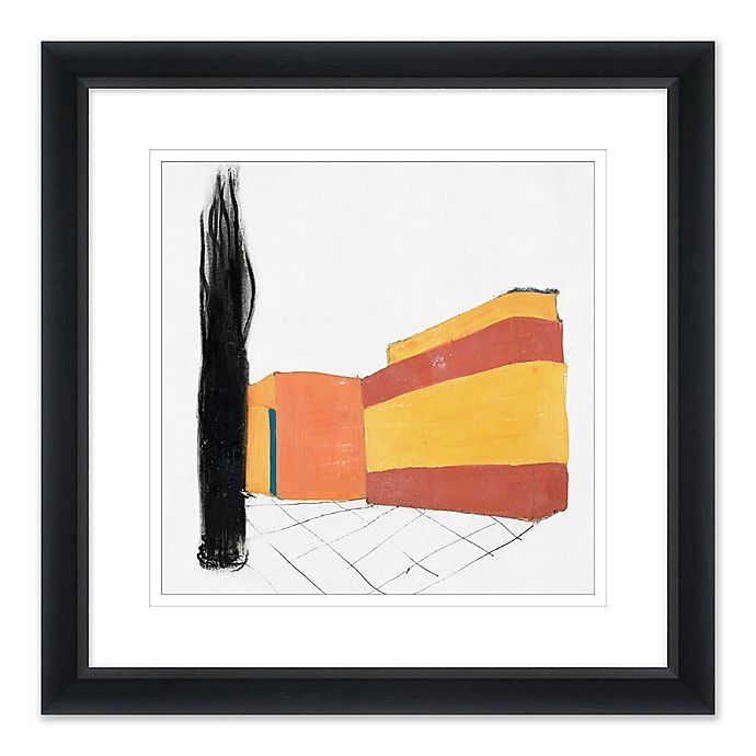 Alternate image 1 for Abstract Home Stretch 27.5-Inch Square Paper Framed Print Wall Art