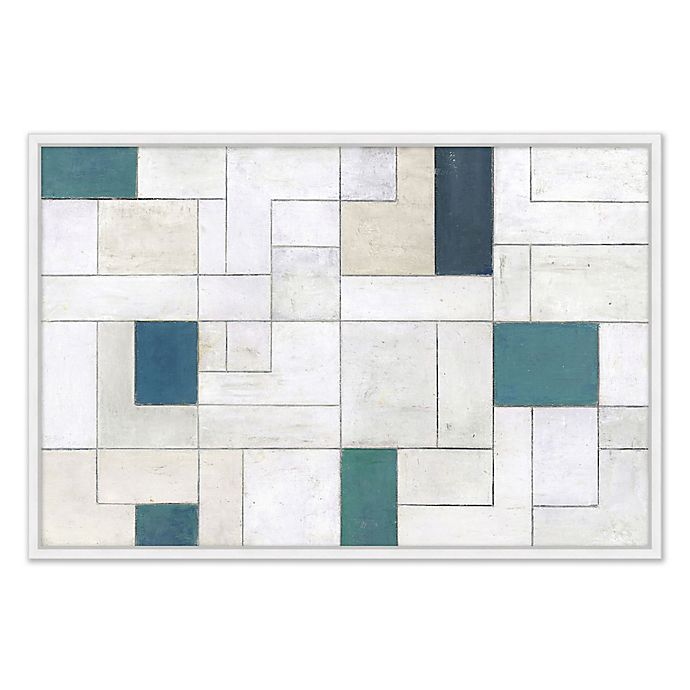 Alternate image 1 for Abstract Grid II 26.75-Inch x 38.75-Inch Framed Canvas Wall Art