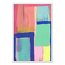 Shapes & Colors 26.75-Inch x 38.75-Inch Framed Canvas Wall Art