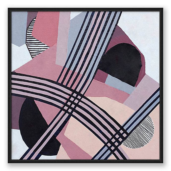 Alternate image 1 for Pretty in Pink Abstract Framed Canvas Wall Art