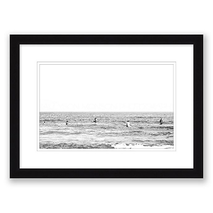 Alternate image 1 for Time Wasted Paper Print Framed Wall Art in Black/White