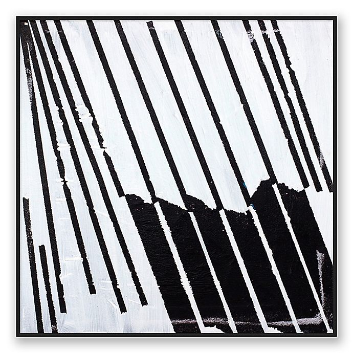Alternate image 1 for Basket Case Abstract 10-Inch Square Framed Canvas Wall Art in Black/White
