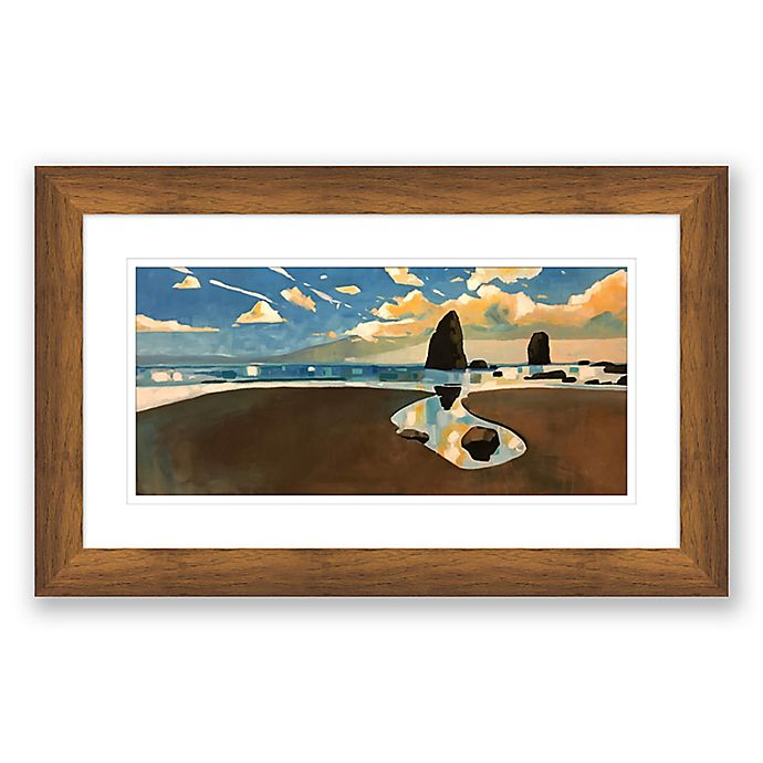 Alternate image 1 for Big Cannon Beach 40-Inch x 25-Inch Paper Print Framed Wall Art