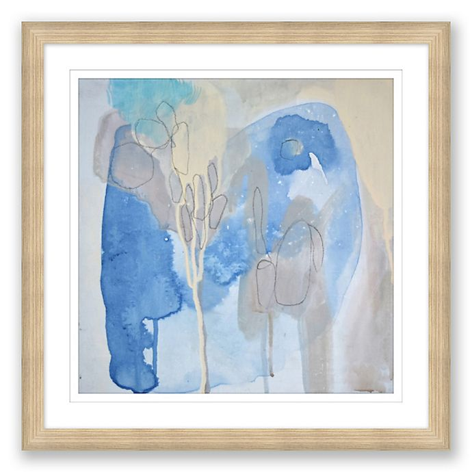 Alternate image 1 for Blue & Grey Abstract 24-Inch Framed Print Wall Art