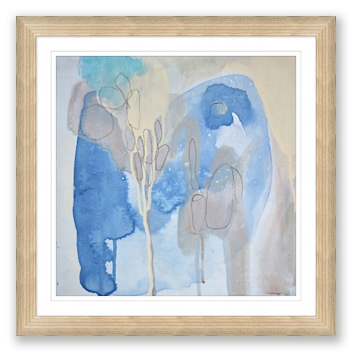 Alternate image 1 for Blue & Grey Abstract 31.5-Inch Framed Print Wall Art