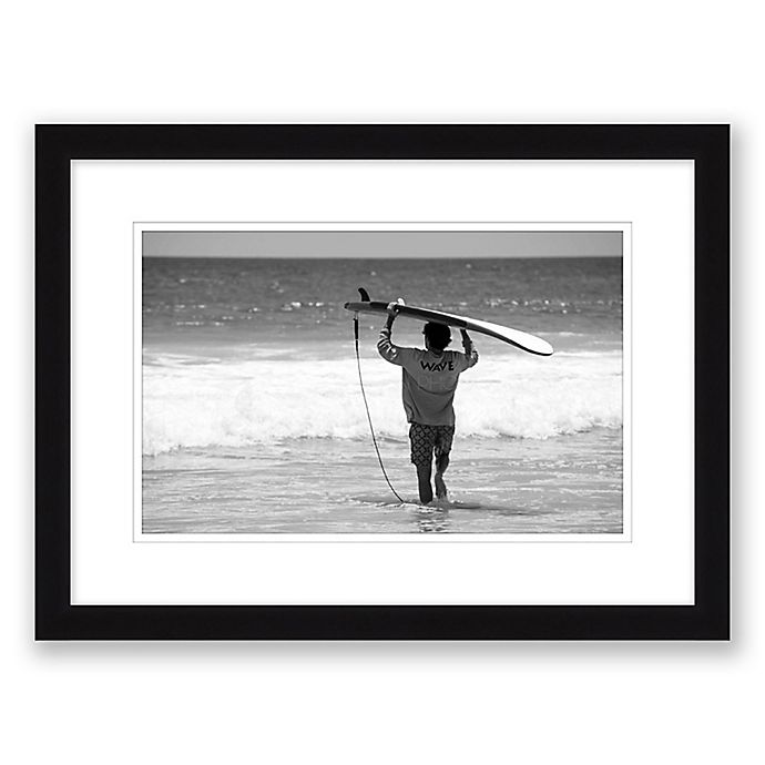 Alternate image 1 for Catch Me 14.5-Inch x 19.5-Inch Framed Print Wall Art in Black/White