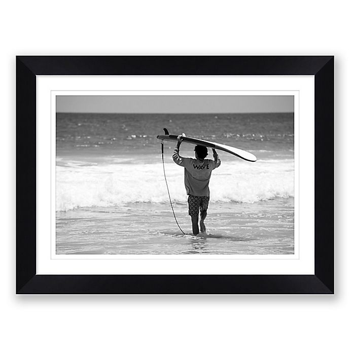 Alternate image 1 for Catch Me 23.5-Inch x 31.5-Inch Framed Print Wall Art in Black/White<br />