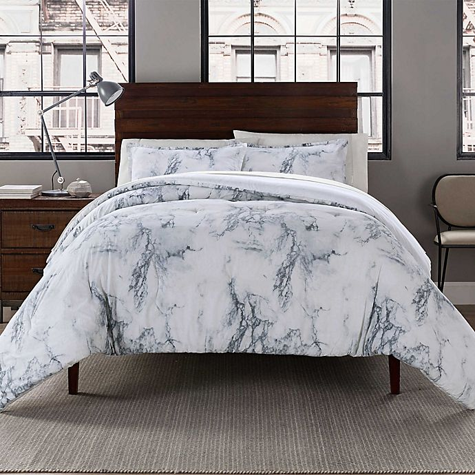 Alternate image 1 for Garment Washed Printed Comforter Set