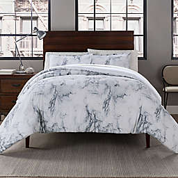 Garment Washed 3-Piece Printed Comforter Set