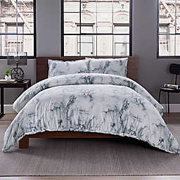 Garment Washed Printed Duvet Cover Set