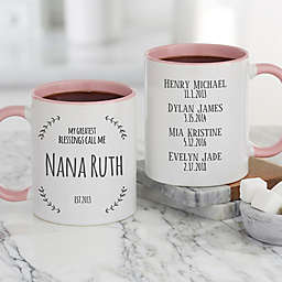 My Greatest Blessings Call Me 11 oz. Coffee Mug in Pink
