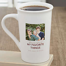 My Favorite Things Personalized Coffee Mug