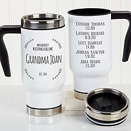 My Greatest Blessings Call Me Personalized Commuter Travel Mug For Her