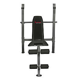 Sunny Health & Fitness® Weight Bench in Black