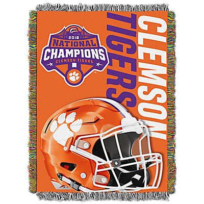 Clemson University 2019 Football National Champions Tapestry Throw Blanket