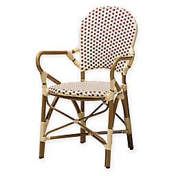 Baxton Studio Deena All-Weather Chairs in Beige/Red (Set of 2)