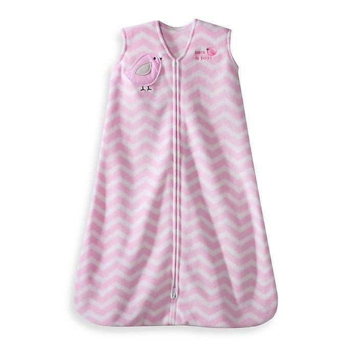 Alternate image 1 for HALO® SleepSack® Wearable Blanket in Pink Zigzag Bird