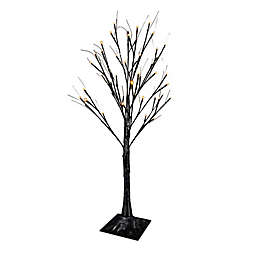 3-Foot LED Lighted Black Birch Tree Yard Decor