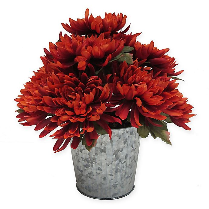 Alternate image 1 for 14-Inch Dahlia Artificial Table Top Floral Arrangement in Orange