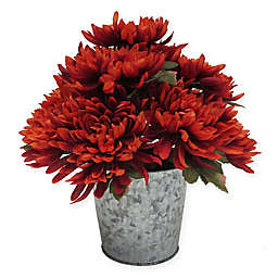 14-Inch Dahlia Artificial Table Top Floral Arrangement in Orange