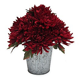14-Inch Dahlia Artificial Table Top Floral Arrangement in Red