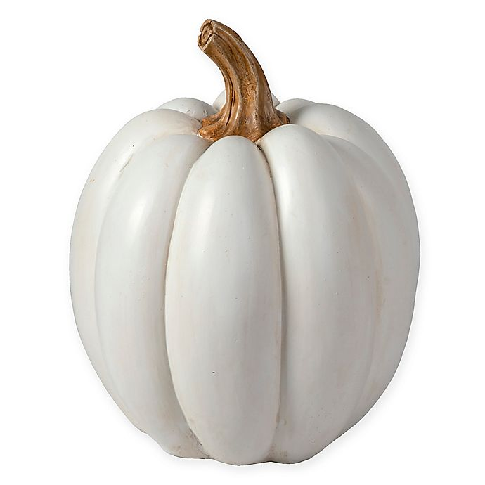 Alternate image 1 for Bee & Willow™ Home 8-Inch Tabletop Pumpkin in White