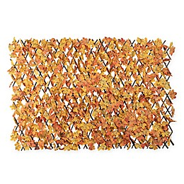 Expandable 78-Inch x 39-Inch Outdoor Fence with Maple Leaves