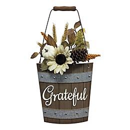 Grateful Harvest Wood Bucket Wall Art