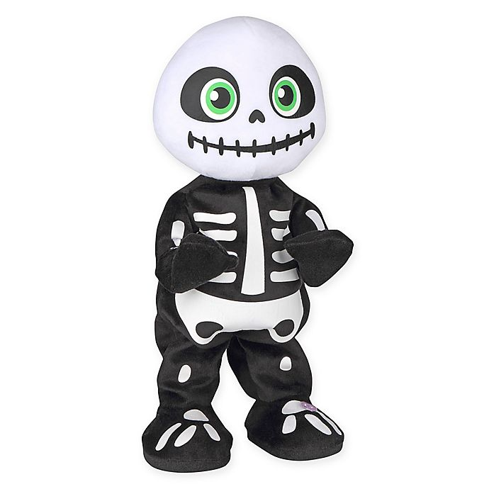 Alternate image 1 for Gemmy Animated Plush Thriller Skeleton Figure in Black/White