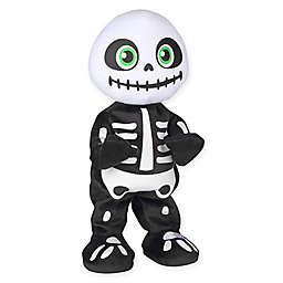 Gemmy Animated Plush Thriller Skeleton Figure in Black/White