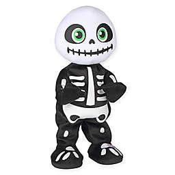 Gemmy Animated Plush Thriller Skeleton Figure in Black/White