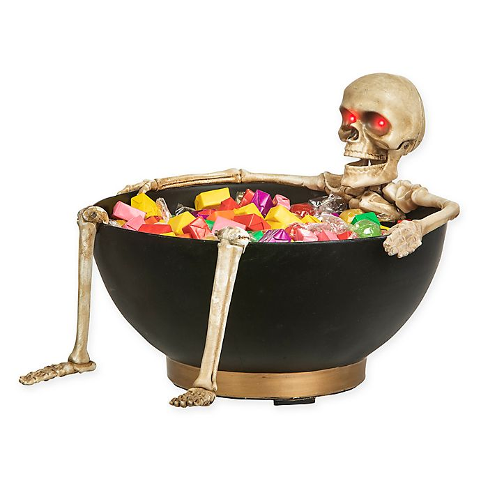 Gemmy Animated Candy Bowl With Laughing Skeleton Bed Bath Beyond