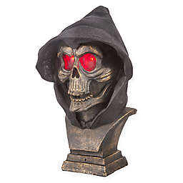 Gemmy Animated Reaper Skull Bust in Gold/Black