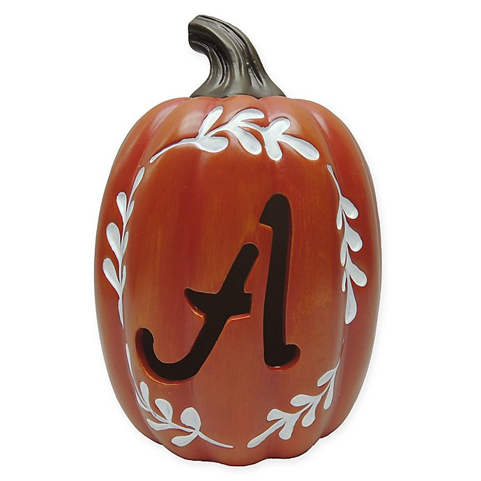 Alternate image 1 for 9-Inch Pre-Lit LED Monogram Letter Pumpkin