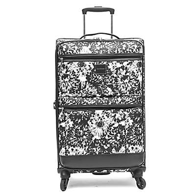 Isaac Mizrahi Boldon 26-Inch Spinner Checked Luggage in Black/White