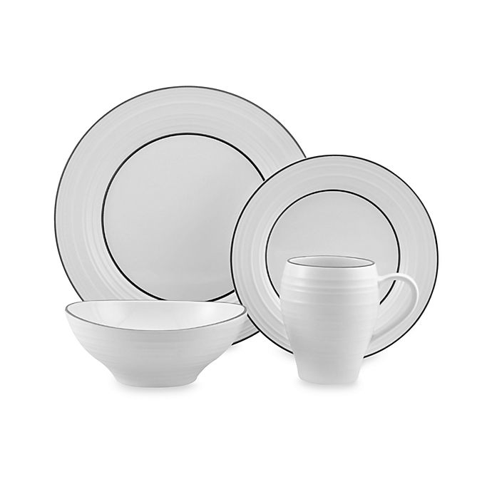 Alternate image 1 for Mikasa® Swirl Banded Dinnerware Collection