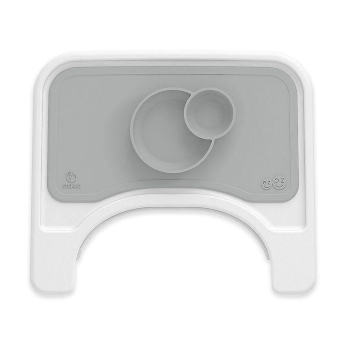 Alternate image 1 for Stokke® ezpz™ Bowls Placemat for Stokke Steps™ Tray in Grey