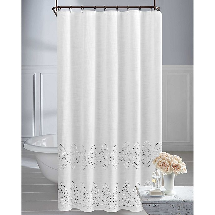 Alternate image 1 for Wamsutta® Vintage 72-Inch x 72-Inch Eyelet Shower Curtain in White
