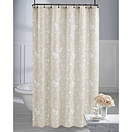 Wamsutta® Vintage Embroidered Floral Shower Curtain in Linen