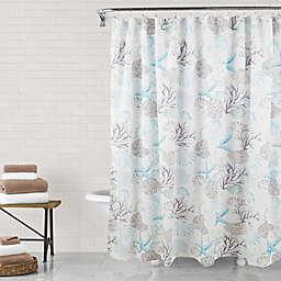 Sea Life Shower Curtain in Aqua