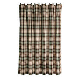 HiEnd Accents Huntsman Plaid Shower Curtain