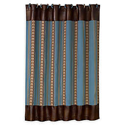 HiEnd Accents Turquoise Stripe Shower Curtain