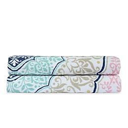 Peach and Oak Melody Bath Towels (Set of 2)