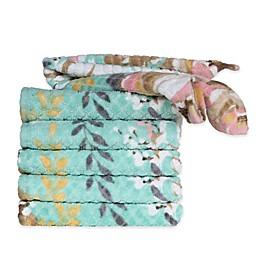 Peach & Oak 6-Pack Sara Washcloth Bundle